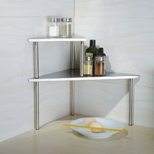 <strong>Cook N Home</strong> Stainless Steel Triangle Corner Storage Shelf