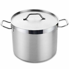 16-qt.Stock Pot with Lid