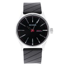 Men's Sentry Polyurethane Quartz Watch with Black Dial