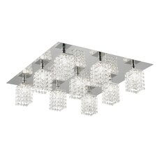 Pyton 9 Light Semi Flush Ceiling Light