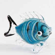 Marbled Art Glass Fish Figurine (Set of 2)