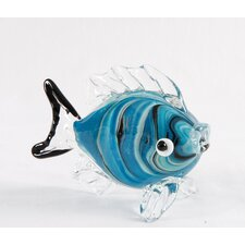 Marbled Art Glass Fish Figurine