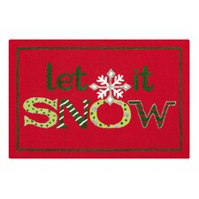 <strong>C & F Enterprises</strong> Let It Snow Hooked Rug