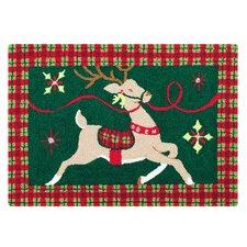 Reindeer Wonderland Hooked Rug