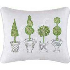 Topiary Cotton Accent Pillow