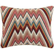 Flame Stitch Wool Accent Pillow