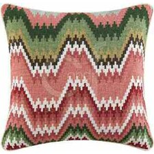 Wave Stitch Wool Accent Pillow