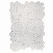 Circle White Contemporary Rug