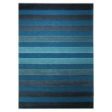 Cross Walk Turquoise Contemporary Rug