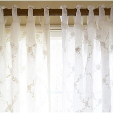 Trellis Linen Tab Top Voile Curtain Single Panel