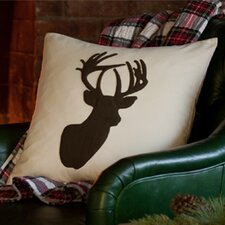 Elk Porch Cotton Pillow