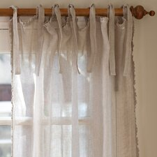 <strong>Taylor Linens</strong> Ruffle Linen Tab Top Curtain Single Panel
