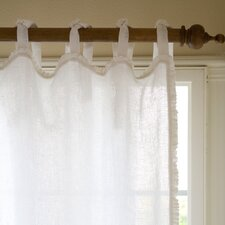Ruffle Linen Tab Top Curtain Single Panel