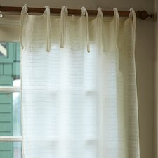 Pintuck Tab Top Curtain Single Panel