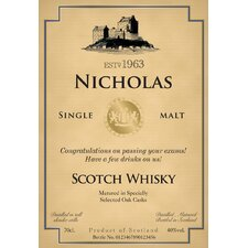 Personalized Scotch Single Malt Whisky Label
