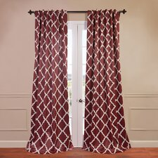 Trellise Blackout Curtain Single Panel