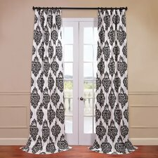 Ikat Printed Cotton Curtain Single Panel