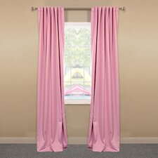 <strong>Half Price Drapes</strong> Polka Dot Blackout Curtain Single Panel