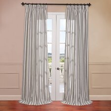 <strong>Half Price Drapes</strong> Key West Linen Blend Stripe Curtain Single Panel