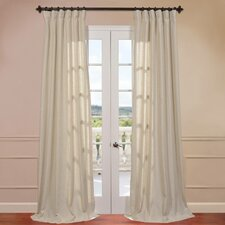 Hilo Natural Linen Blend Solid Curtain Single Panel