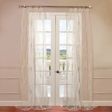 Florina Patterned Sheer Curtain Single Panel