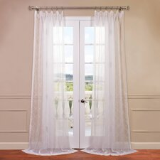 Vita Embroidered Sheer Curtain Single Panel