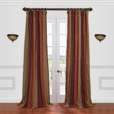 <strong>Half Price Drapes</strong> Roxbury Faux Silk Taffeta Stripe Curtain Single Panel