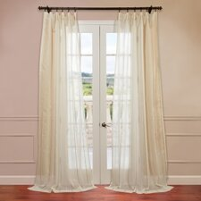 Essex Natural Jacquard Stripe Sheer Curtain Single Panel