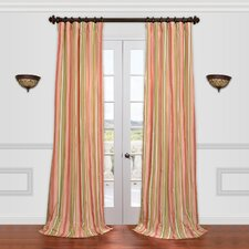 <strong>Half Price Drapes</strong> Bijoux Faux Silk Taffeta Stripe Curtain Single Panel