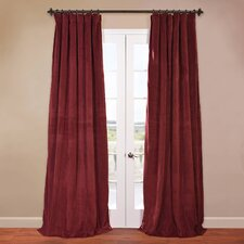<strong>Half Price Drapes</strong> Signature Blackout Velvet Curtain Single Panel