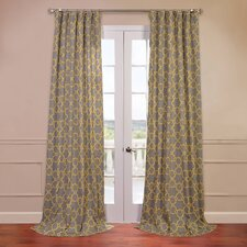 <strong>Half Price Drapes</strong> Marabella Printed Cotton Curtain Single Panel