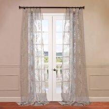 Agatha Patterned Sheer Curtain Single Panel