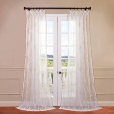 Contessa Embroidered Sheer Curtain Single Panel
