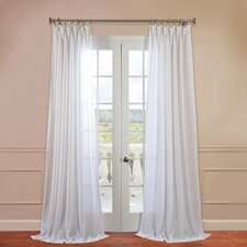 Faux Linen Sheer Curtain Single Panel