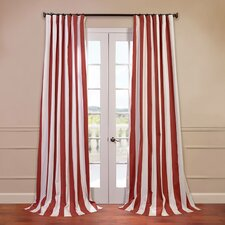 <strong>Half Price Drapes</strong> Cabana Printed Cotton Curtain Single Panel