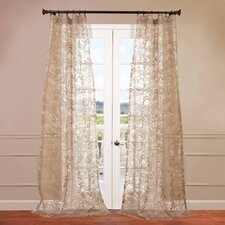 Sabrina Patterned Sheer Curtain Single Panel