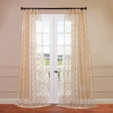 Gia Embroidered Sheer Curtain Single Panel