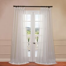 Signature Double Layered Sheer Curtain Single Panel