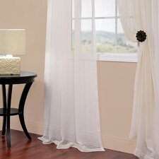 Solid Voile Sheer Curtain Panel Pair