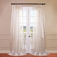 Juliette Embroidered Sheer Curtain Single Panel
