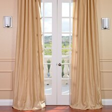 Vintage Textured Faux Dupioni Rod Pocket Curtain Single Panel
