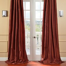 <strong>Half Price Drapes</strong> Faux Solid Taffeta Curtain Single Panel