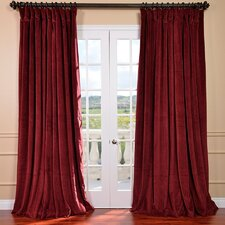 <strong>Half Price Drapes</strong> Signature Double Wide Velvet Rod Pocket  Curtain Single Panel