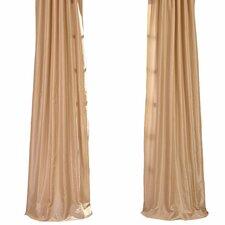 Vintage Textured Faux Dupioni Rod Pocket Curtain Panel