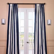 Cabana Printed Cotton Rod Pocket Curtain Single Panel