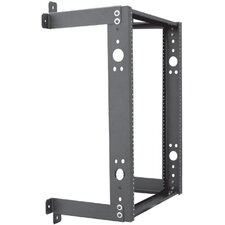 "12""D Open Frame Wall Mount with Fixed Design - 16 RU"