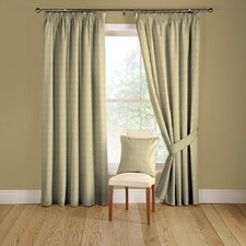 Tokyo Lined Curtains with Pencil Heading in Natural
