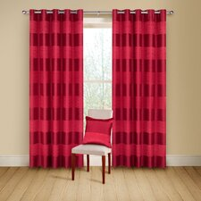 Arianna Lined Curtains with Eyelet Heading
