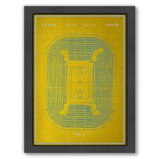 <strong>Americanflat</strong> Basketball Court Framed Art