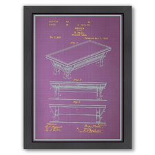 <strong>Americanflat</strong> Billiard Table Framed Art